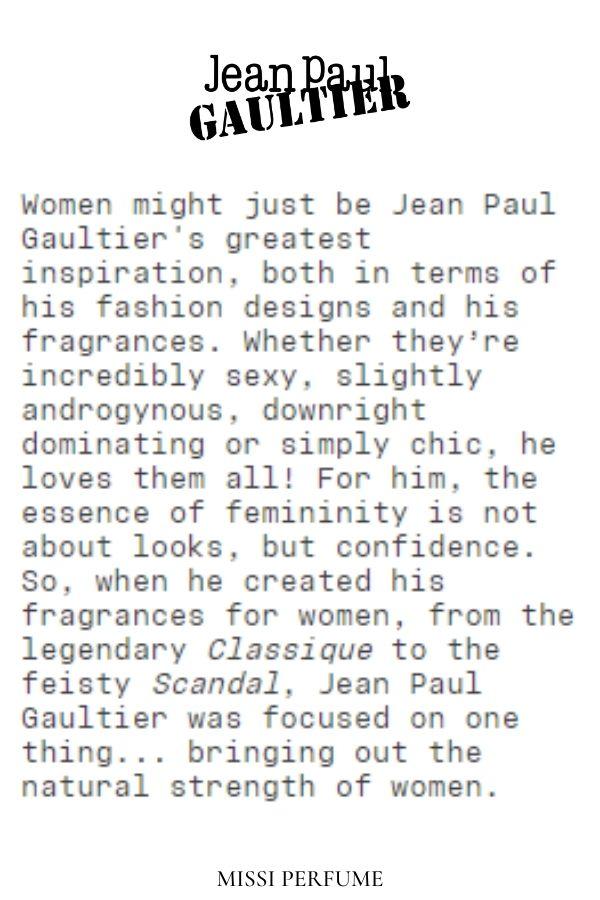 Ngọn lửa truyền cảm hứng của Jean Paul Gaultier | Missi Perfume